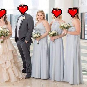 SORELLA VITA Dresses - Mixed Fabric Bridesmaids Dress Arctic Blue